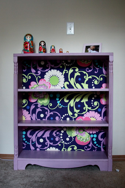 Fabric Backed Bookcase